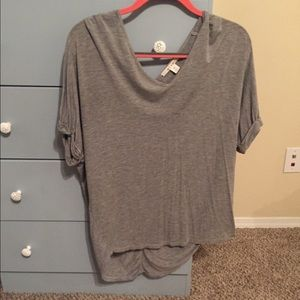 High-low V-neck top